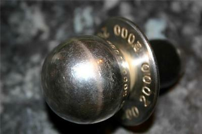 SILVER plated  BOTTLE STOPPER Year 2000 Looks like a dummy!!!