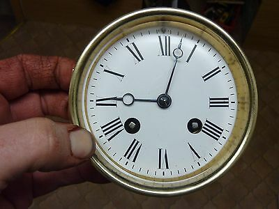 Good Antique French Clock Striking Movement & Dial (Vc)