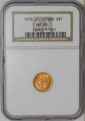 1903 $ Gold Jefferson Dollar MS65 NGC