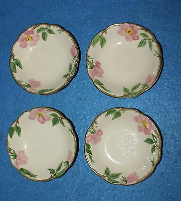 Franciscan Pottery Desert Rose Set of 4 Small Bowls
