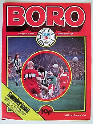 Middlesbrough v Sunderland League Cup Replay 77/78