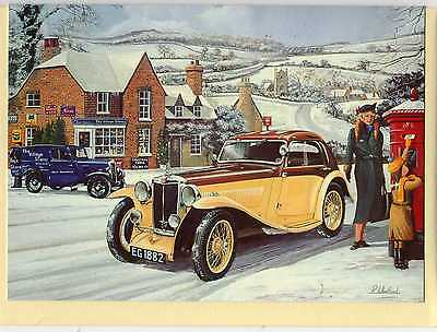 Mg Airline Coupe--Christmas Print Card--R.wheatland