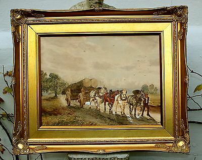 Thomas Smythe (1825-1906) Fine Mid C19th Victorian Watercolour - The Timber Cart