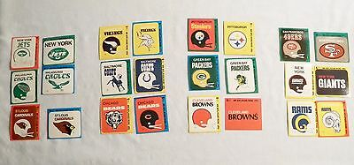 24 Assorted NFL HI-GLOSS Patches Fleer Vintage Football Stickers