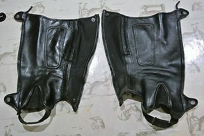 Lovely Soft English Leather Riding Chaps Size S