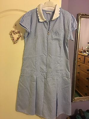 New Without Tags Girls Blue/White School Dress Aged 13-14 M&S