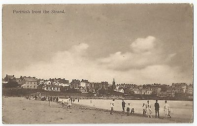 Old Postcard 'Portrush from the Strand' Co Antrim 1933