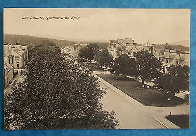 Postcard c.1910 THE SQUARE GRANTOWN ON SPEY MORAY SCOTLAND