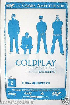 """Coldplay 2005 """"twisted Logic Concert Tour"""" San Diego Concert Poster"""