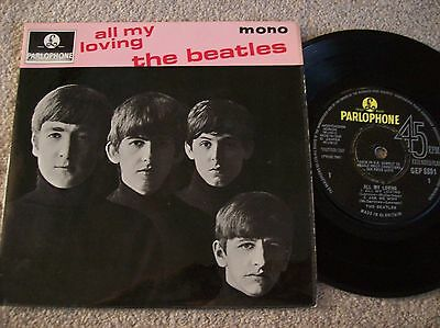 "The Beatles - All My Loving Sold In Uk Press 7"" Ep Single (1963) Gep 8891"