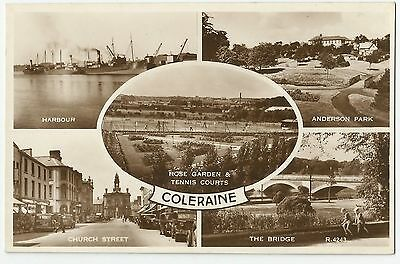 Old Multi-View Postcard 'Coleraine' Co Derry/Londonderry R/P