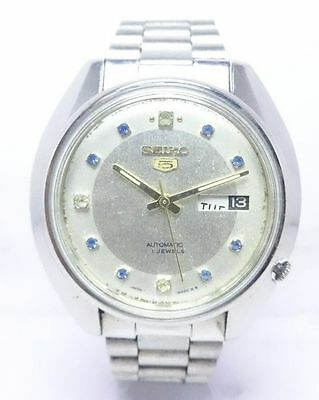 Genuine Vintage Seiko 5 Automatic 21 Jewels Day/date Mens Excellent Wrist Watch