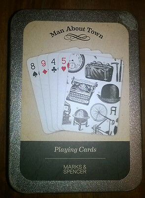 M & S Man About Town Playing Cards x 2
