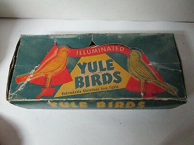 10 Vintage 1940's GLOLITE C-6 Bird Christmas Lights in Original Box - Working