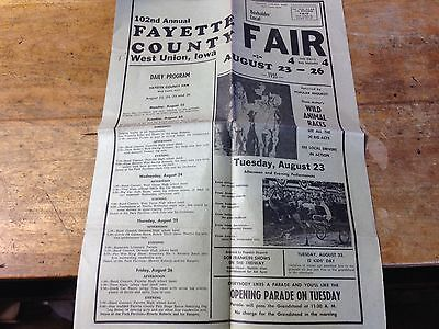 county fair  poster fayette county west union iowa 1955