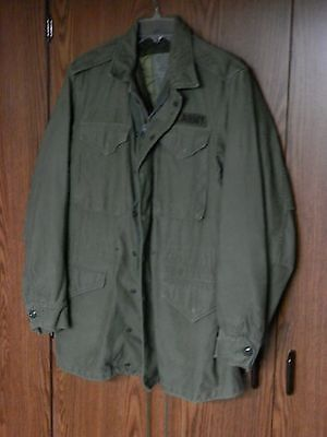 US Army M-1951 Vintage Military Field Jacket SMALL LONG w/ liner KOREAN WAR