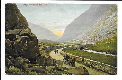 Old postcard, Wales: 'Pass of Llanberis'. Posted 1905.