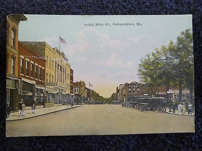 Early 1900's South Main Street in Independence, Mo Missouri PC