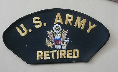 US Army Retired - New Military Iron-On Patch