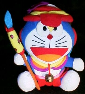 "DORAEMON African Native w/Spear 7"" Stick-On Plush Stuffed Animal Toy"