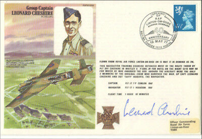 617 Squadron Leonard Cheshire RAF Hand Signed RAFm First Day Cover(FDC)