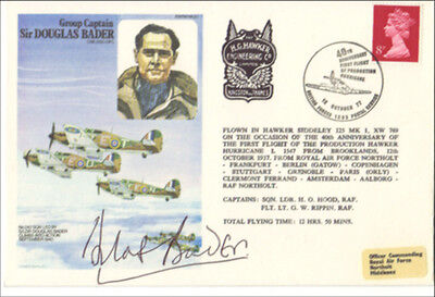 Battle Of Britain Hero Douglas Bader Hand Signed Raf First Day Cover FDC