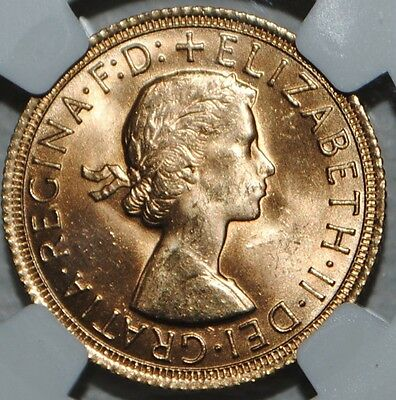 1967 Great Britain Gold Sovereign Elizabeth NGC MS64 Uncirculated BU Coin UK SOV