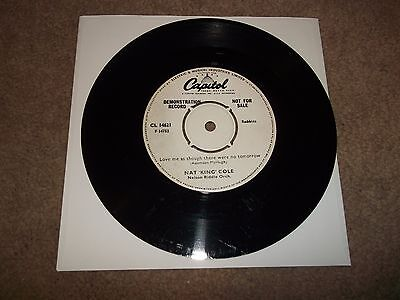 """NAT KING COLE demo LOVE ME AS THOUGH THERE WERE NO TOMORROW 7"""" VINYL CL 14621"""