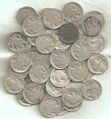 Roll of 40 Partial Date Buffalo Nickels