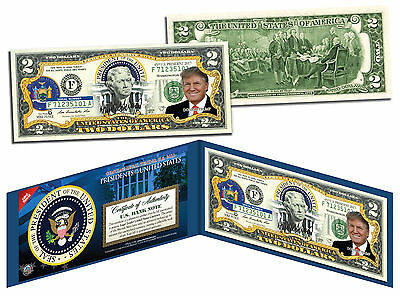 DONALD TRUMP * Presidential Series #45 * Genuine Legal Tender U.S. $2 Bill