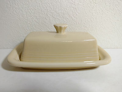 Fiesta Fiestaware Ivory XL Butter Dish Covered 2 PC NEW