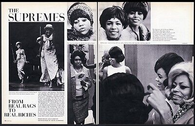 1966 Diana Ross and The Supremes 13 photo vintage print article