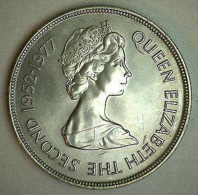 1977 Gibraltar 25 new pence Uncirculated  Apes Silve Jubilee Copper-nickel #R