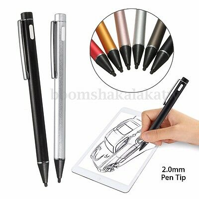 Universal 2.0mm Active Stylus Capacitive Touch Screen Pen for iPad 2 3 4 Samsung
