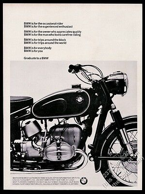 1966 BMW motorcycle photo Graduate To A BMW vintage print ad