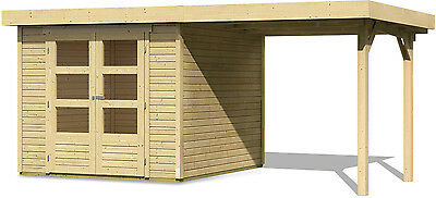 Karibu Garden house BROWSING 19 mm 4,92 x 2,37m with T-bar roof Appliance room