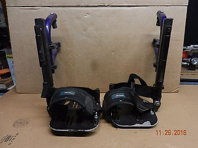 QUICKIE FOOTRESTS Wheelchair Foot Leg Rests METAL PLATES Foot Strap Ankle Holder