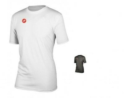 Castelli Race Day men's top T-Shirt 4513095, with Logo, White Size XL