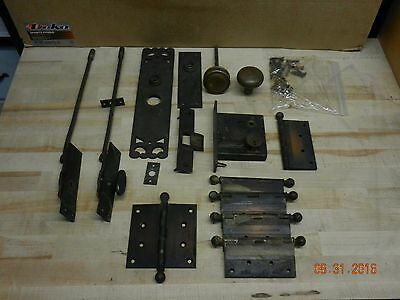 Russell Erwin 1880's Antique Door Hardware Knobs Hinges Plates Bronze Brass
