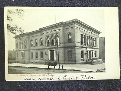 Early 1900's The Government Building in Rome, GA Georgia PC