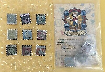 Disney DLR - 2008 Hotel Hidden Mickey Snowflake Collection Complete 9 Pin Set+