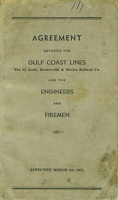 1925 Gulf Coast Lines St. Louis Brownsville Mexico Book