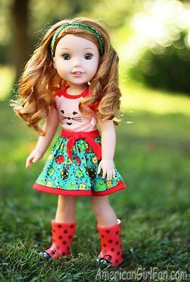 """Wellie Wishers Willa New From American Girl Gorgeous 14"""" Nrfb"""