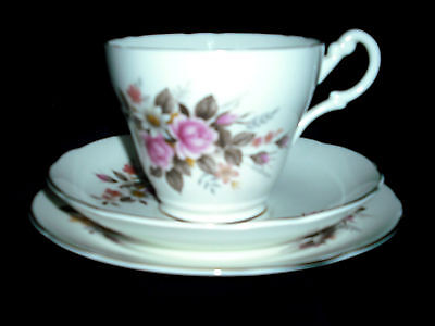 Royal Stuart Fine Bone China Rose Pattern 12 piece 4 settings Tea Set + extra
