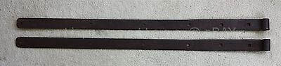 "LOT antique 2pc 50"" BARN DOOR HINGE STRAPS lancaster pa AMISH HAND WROUGHT IRON"