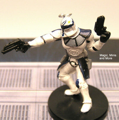 The Clone Wars ~ CAPTAIN REX #7 very rare Star Wars miniature  WotC