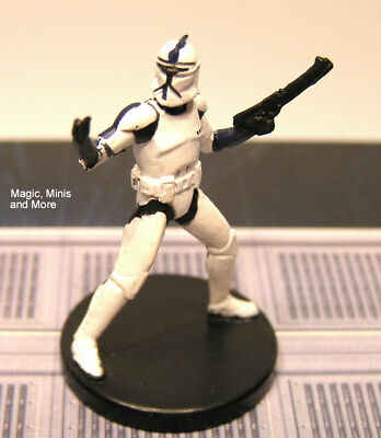 The Clone Wars ~ ELITE CLONE TROOPER COMMANDER #10 Star Wars miniature  WotC