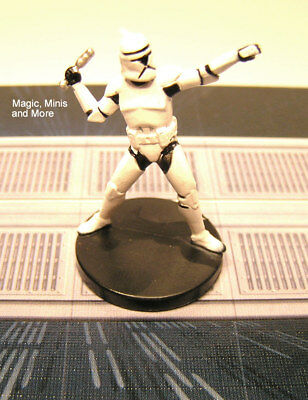 The Clone Wars ~ ELITE CLONE TROOPER GRENADIER #11 Star Wars miniature  WotC