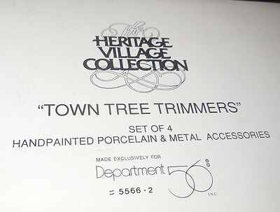 Dept 56 Heritage Village Accessory Town Tree Trimmers 5566-2