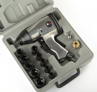 """AIR IMPACT WRENCH 1/2"""" Drive Standard SAE SOCKETS Automotive Compressor Tools"""